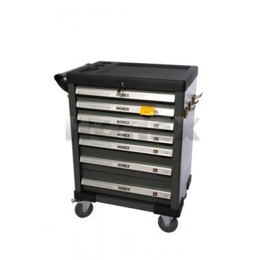 Тележка для инструмента Horex (7ящиков) +набор плоскогубцев и отверток TS05, 17 предметов