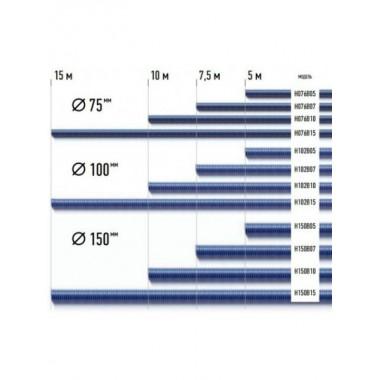 D=100мм, длина 10м (синий)